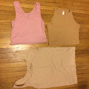 3 pack neutral toned tanks